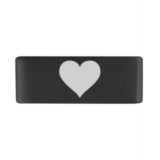 Бейдж heart black 13mm